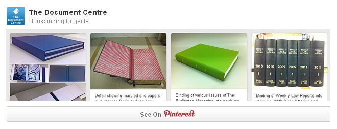 Our bookbinding projects gallery on Pinterest