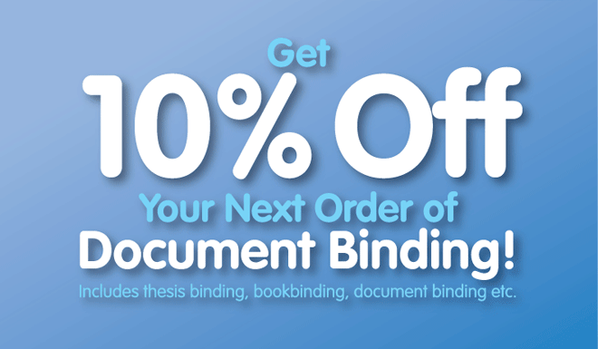 Get 10% Off Your Next Document Binding Order!