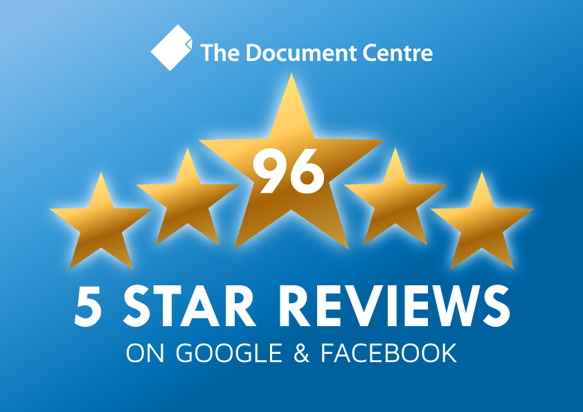 96 Five Star Ratings For The Document Centre!