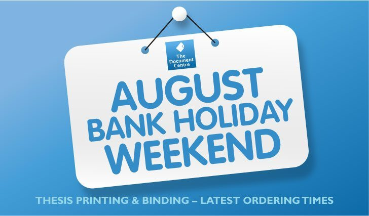The August Bank Holiday – Info & Latest Ordering Times