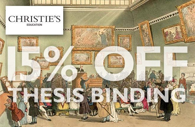 15 Percent Off Thesis Binding for Christie's Education