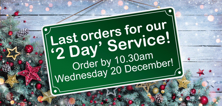 Last Orders for our 2 Day Service