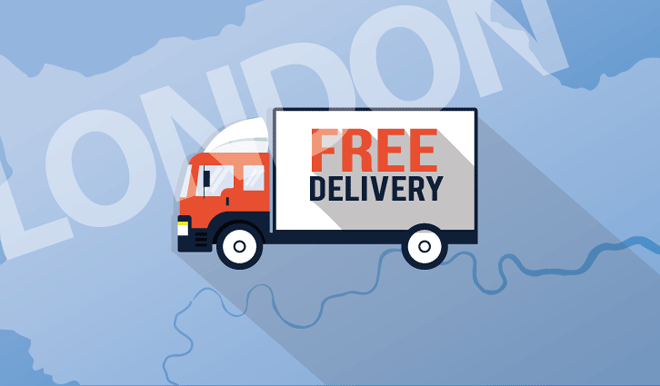 FREE Delivery to Many London Institutions!