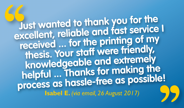 Our Rapid Thesis Binding Service is 'Reliable', 'Fast' & 'Hassle-free' Says Customer