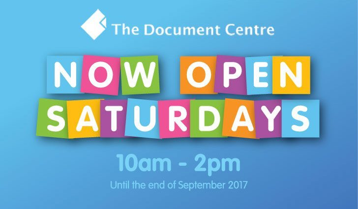 Now Open on Saturdays (August & September)