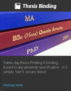 TDC online thesis binding printing
