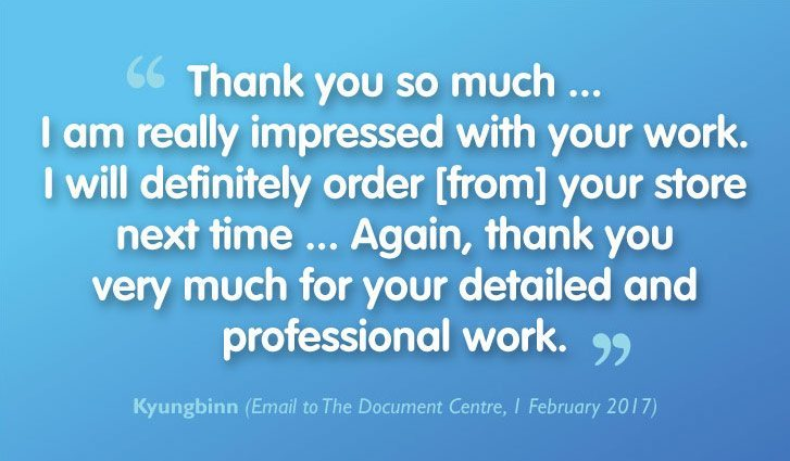 Wonderful Customer Review of our Dissertation Printing & Binding Service