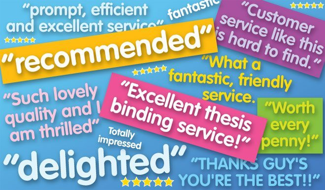 5-Star Ratings & Reviews for Thesis Printing & Binding Services