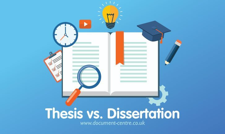 difference between thesis and dissertation in india