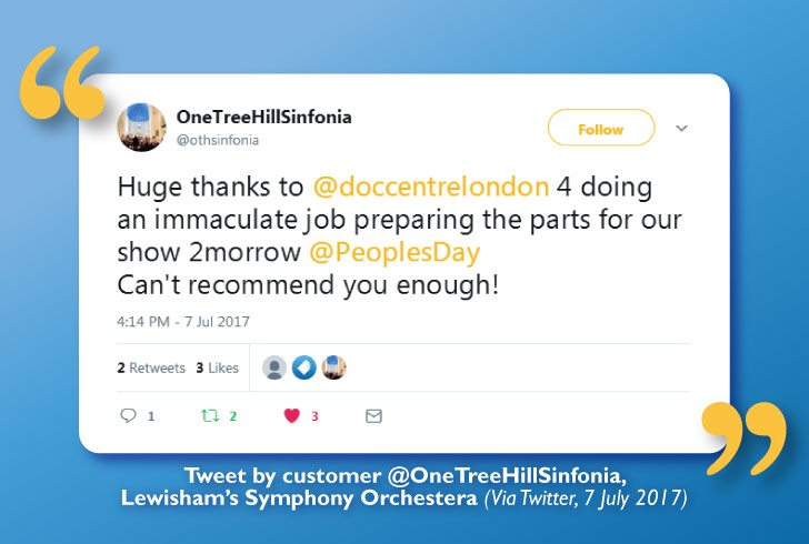 Symphony Orchestra Recommends Us After 'An Immaculate Job'