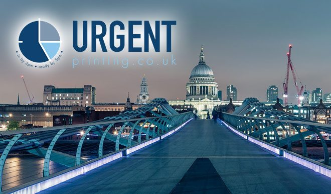 "NEW! Same day ""emergency printing"" service for Central London"