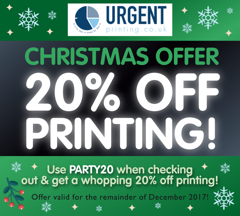 Get 20 Percent Off Printing All December