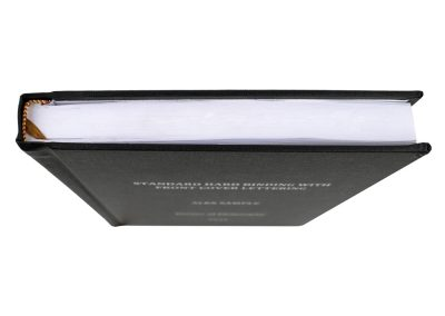 Hard Bound Thesis in Black Buckram cloth with Spine and Front cover lettering in Silver 4