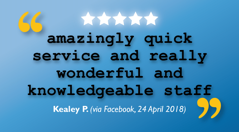 'Amazingly quick service and really wonderful and knowledgeable staff'