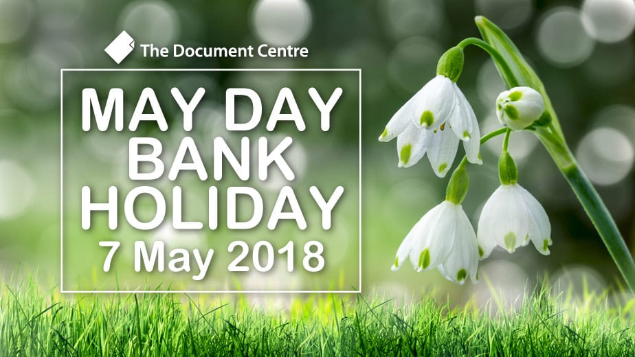 May Day Bank Holiday Closure