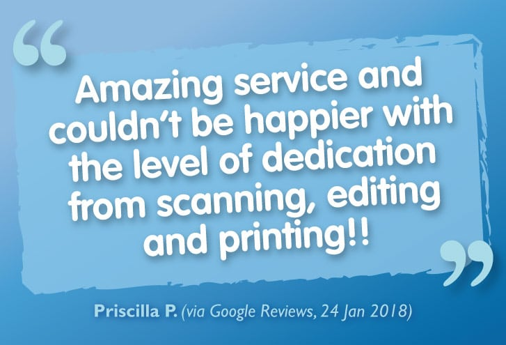 Exceptional Feedback for our Printing, Bookbinding & Scanning Services