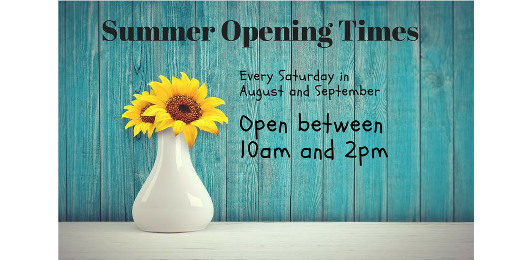 Super Saturday Summer opening times